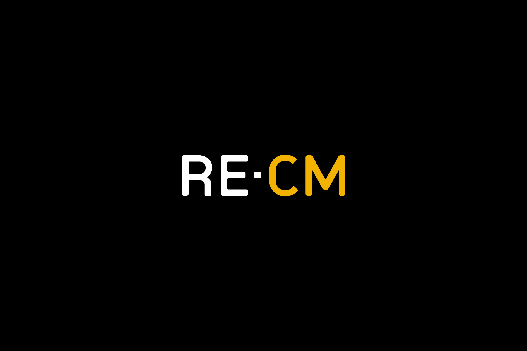 RE•CM came to Firedog with a garish identity (In silver and orange) which did not convey their values. Our first step was to redefine the logotype and create a confident and serious colour palette.