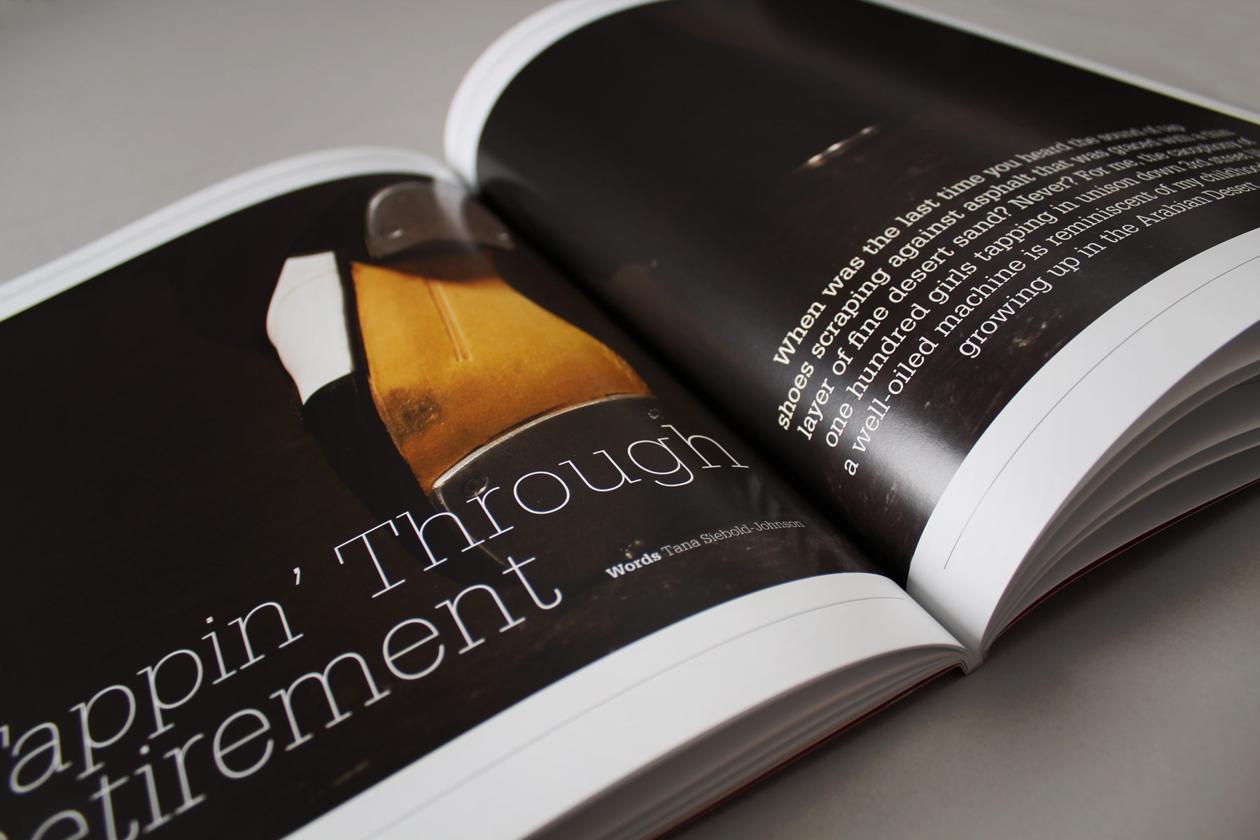 We have created a strong story based feel in the publications by using bold chapter pages, supported by full bleed imagery.