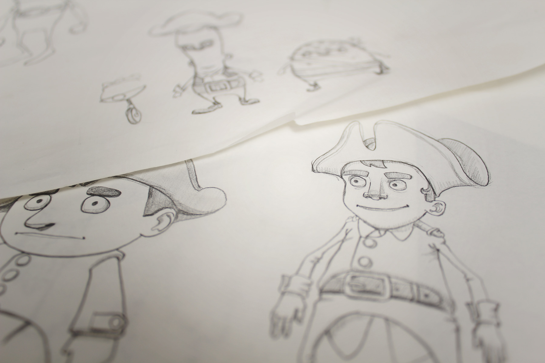 After creating the concept of a pirate adventure, we set about drawing up the plot heroes and villains.