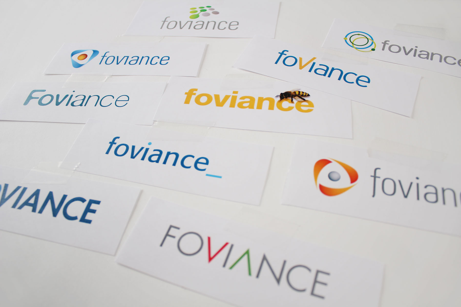 The foviance name is inspired by the fovea - A part of the human eye. Our initial thinking covered both this avenue and also the concept of creating web stickiness.