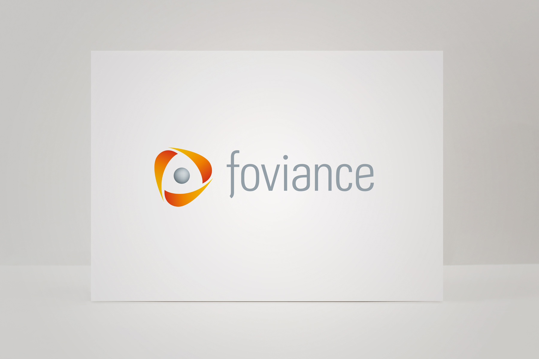 The Foviance brand is the result of a merger between two companies. The icon is a representation of their new three tiered offering.