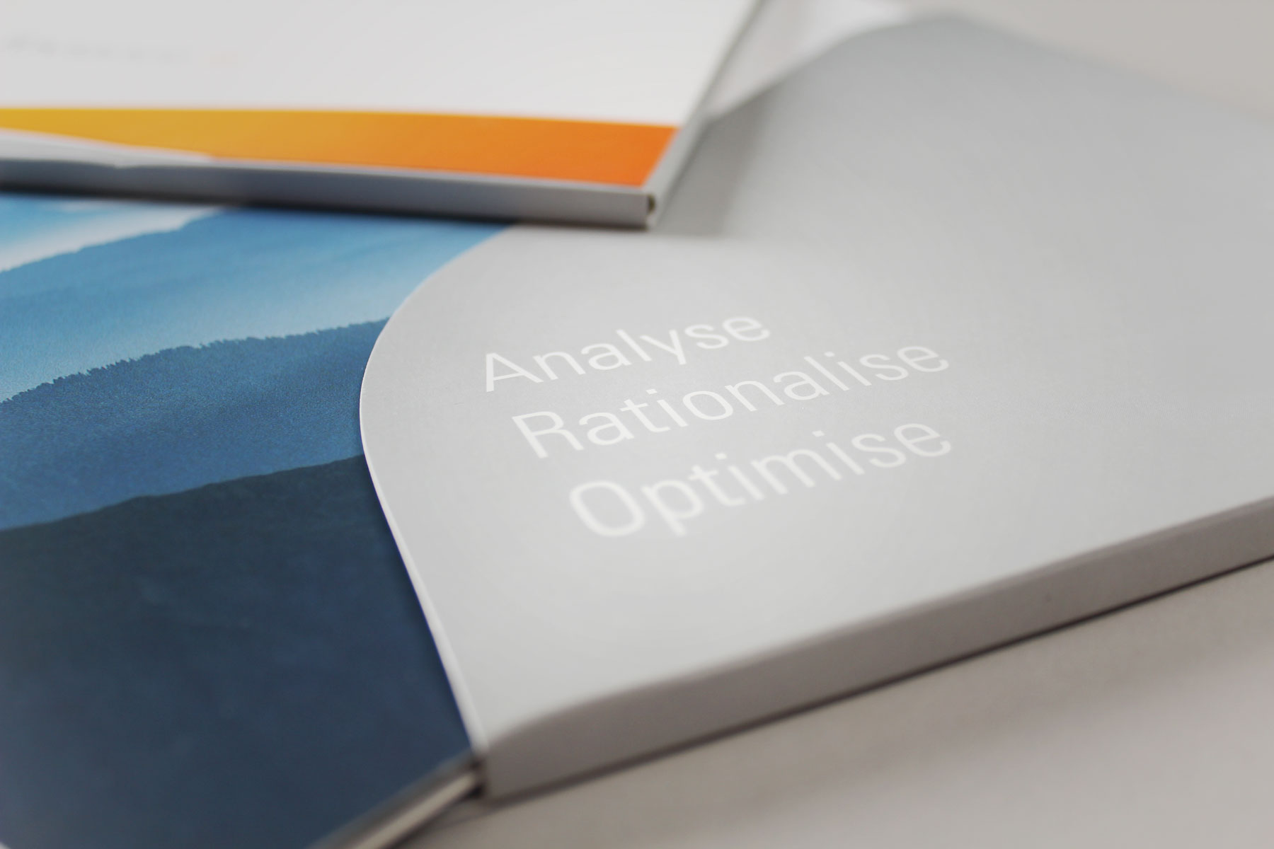 We helped develop the three part positioning statement. Analyse, Rationalise, Optimise - These indicate the three areas of business that make up the Foviance offer.