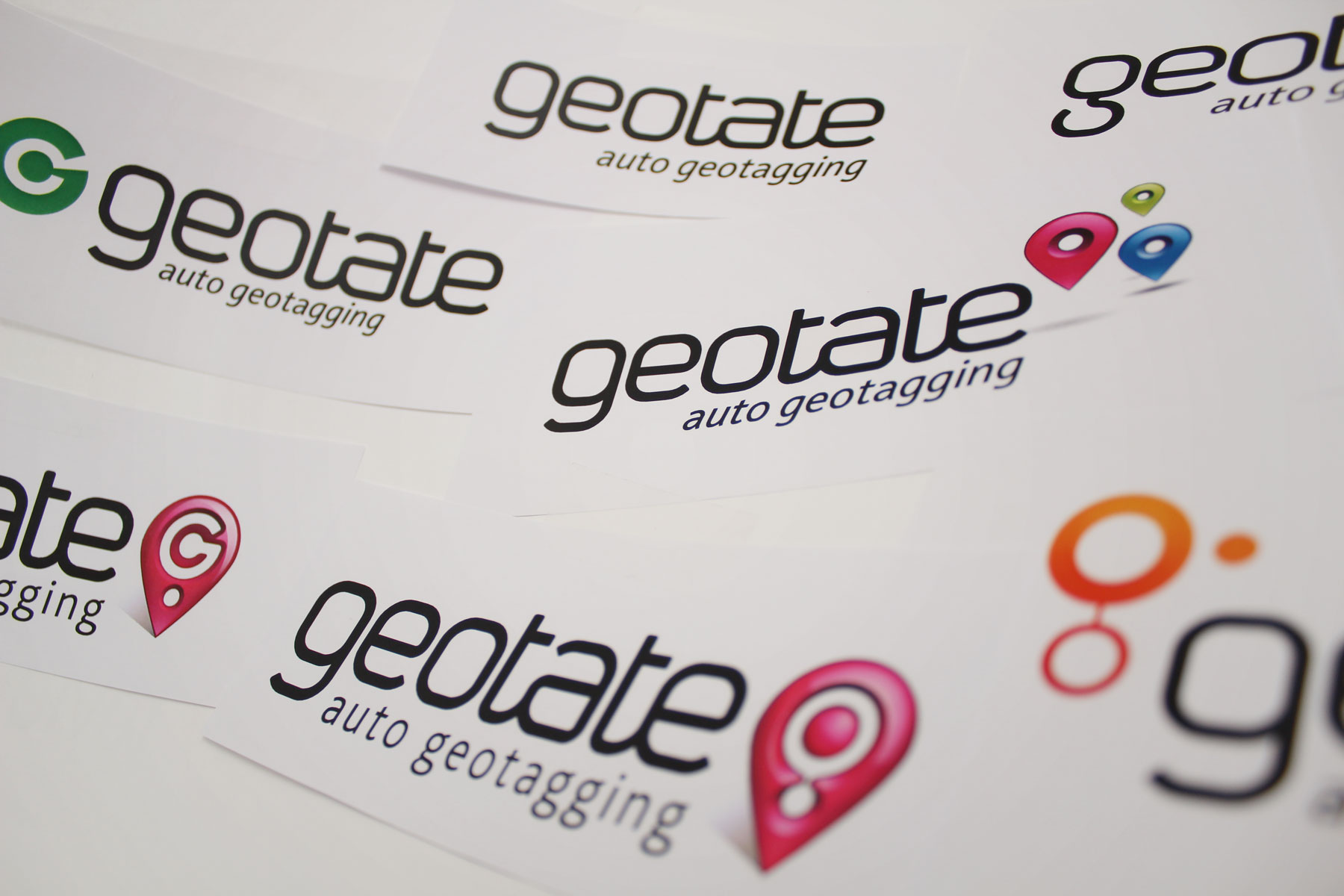 The iconography was combined with a bespoke wordmark - To make the brand truly unique. The auto geotagging proposition was developed to clearly convey the product offer.