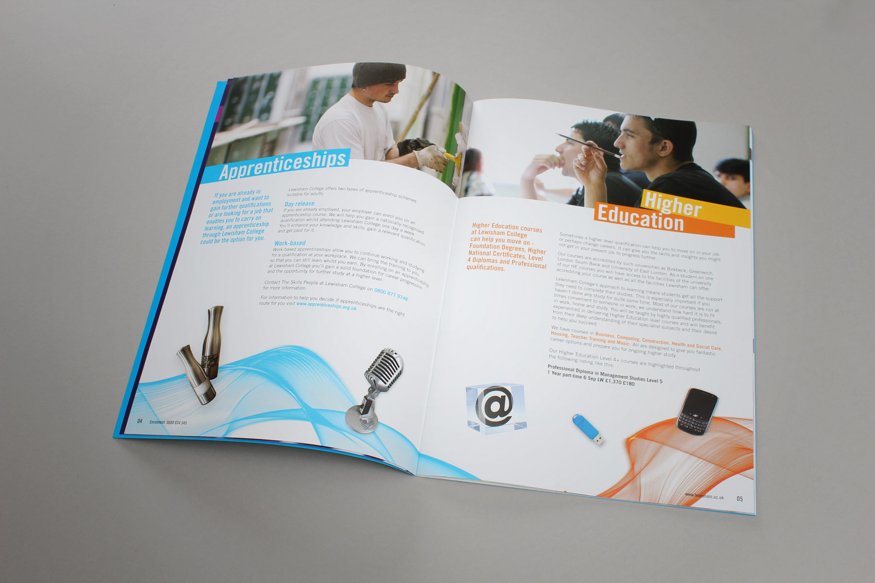 We also have integrated the visual language with the above the line campaign materials which preceded the guide. This helps the audience make a connection between the materials.