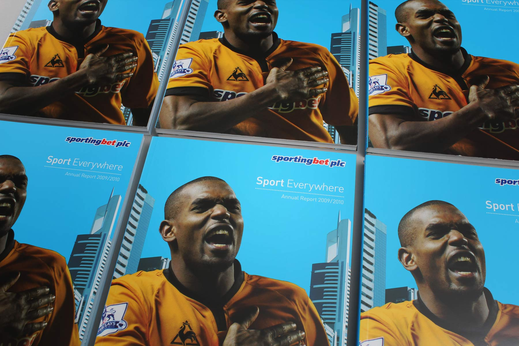 The cover of the report shows the Wolverhampton strip and Sportingbet sponsorship - A key promotional part of the brand.