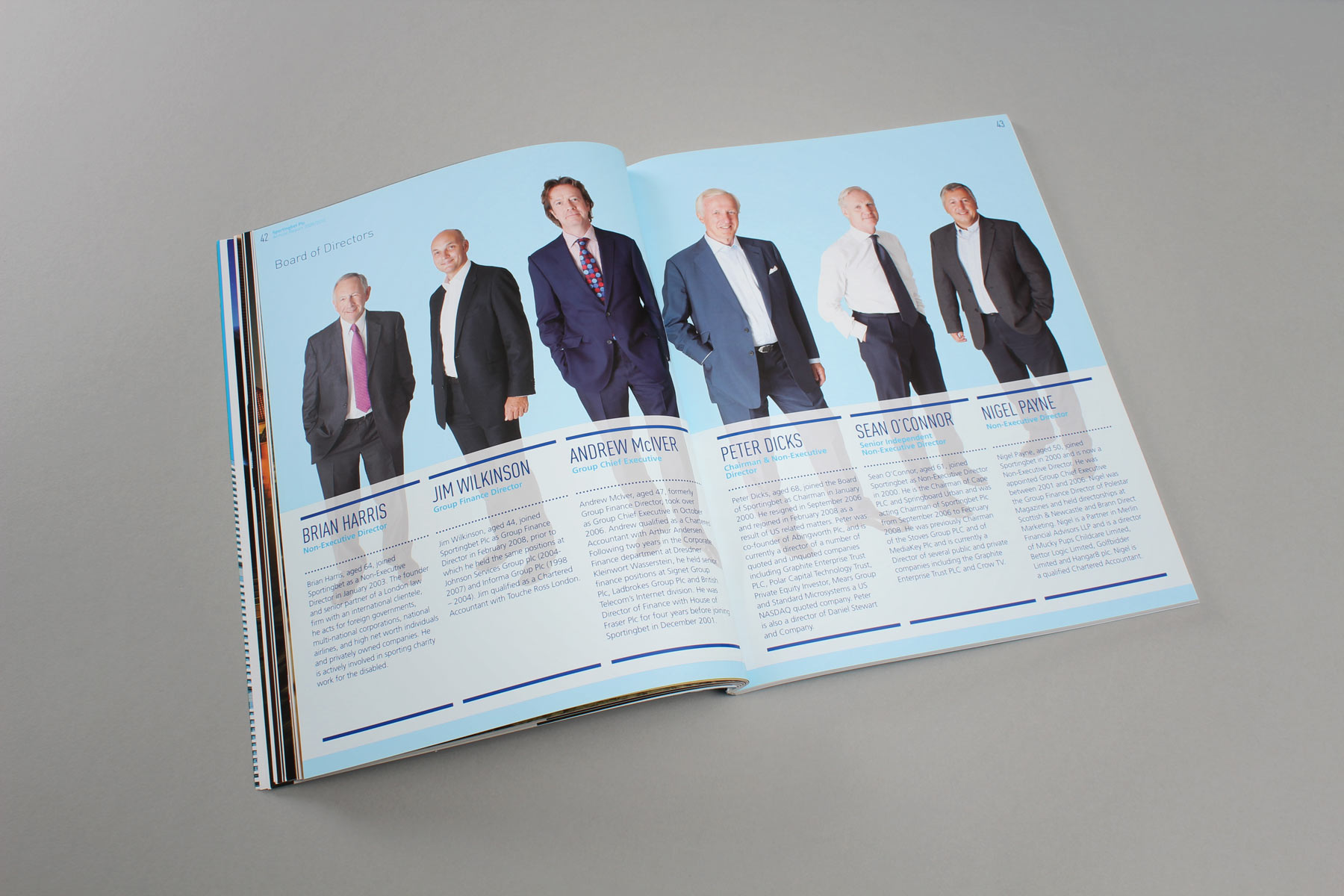 We shot the board members in full length imagery to compliment the visual concept.