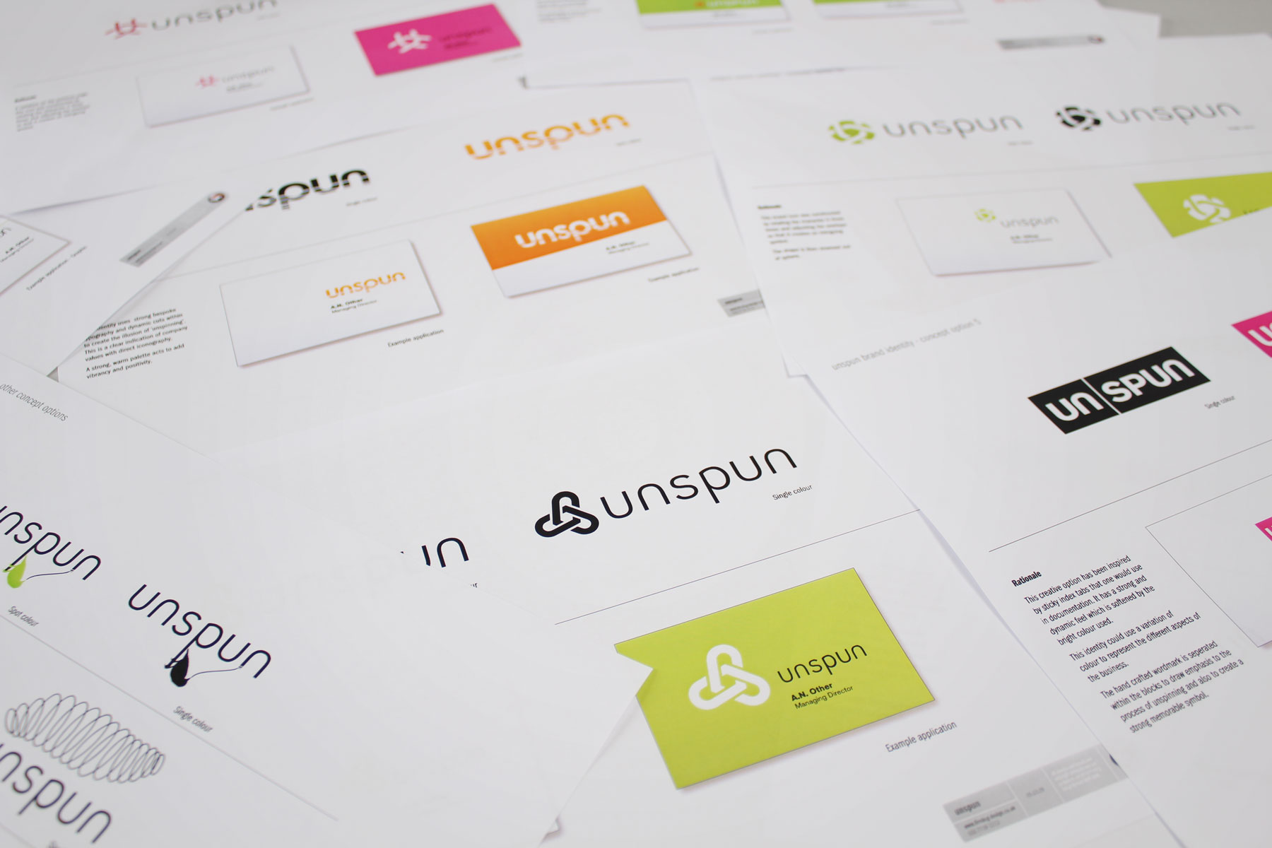 Along with the spider, we created a number of more minimal brand marks and identities.