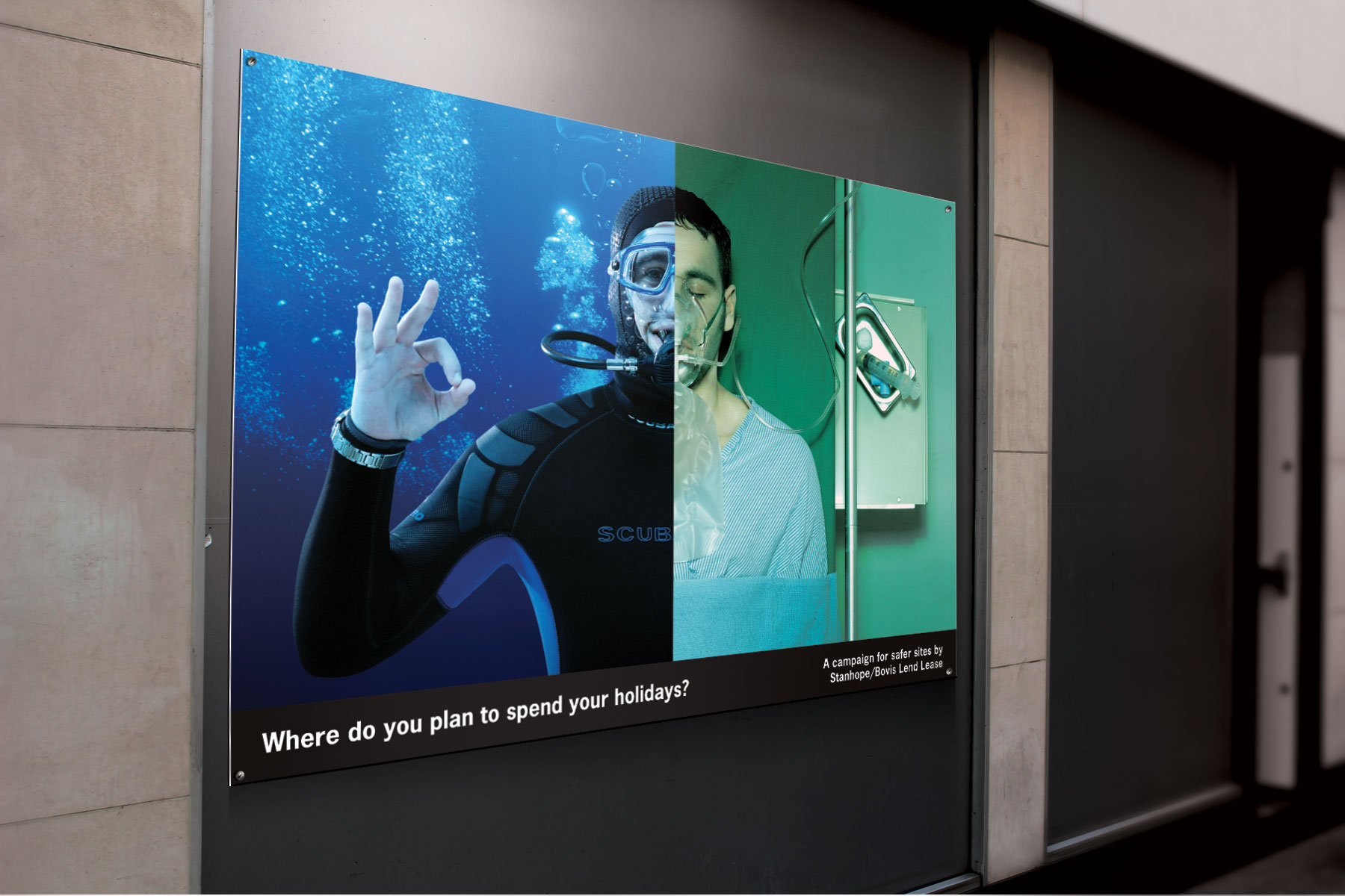 The advertising media was applied to a myriad of applications, from small A2 format block mounted posters in canteens to much larger billboard format.
