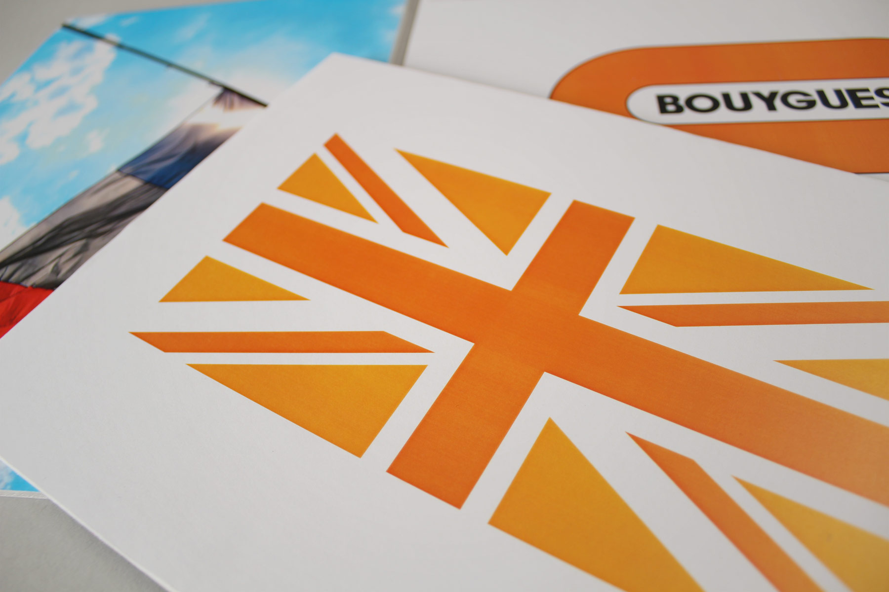 Bouygues UK is a construction business operating in the UK yet owned by a French multinational. Our task as a branding agency was to ensure a cohesive and original projected tone and spirit through the corporate identity.
