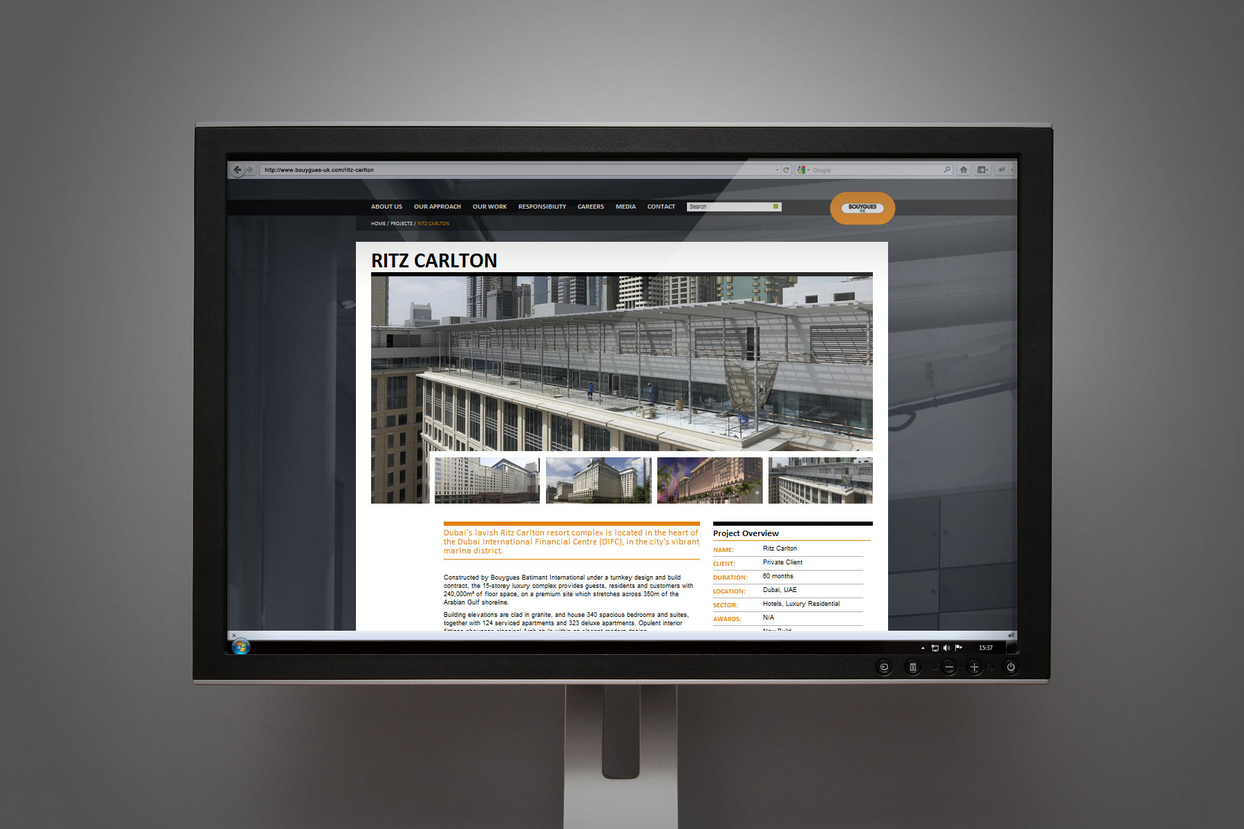 Bouygues UK imagery quality is very high and really shows the superior level of product. We wanted the site to reflect this attention to detail and made sure that impact was created by rendering these assets in a bold way.