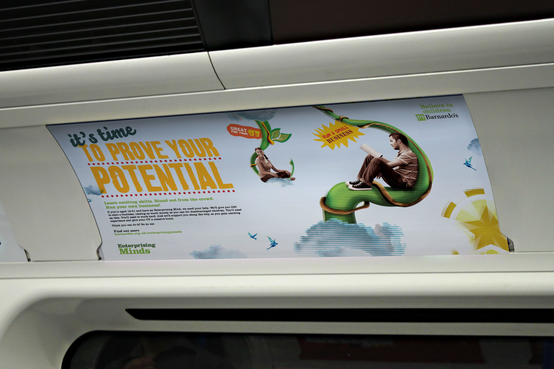 The campaign was designed to inspire and energise young minds