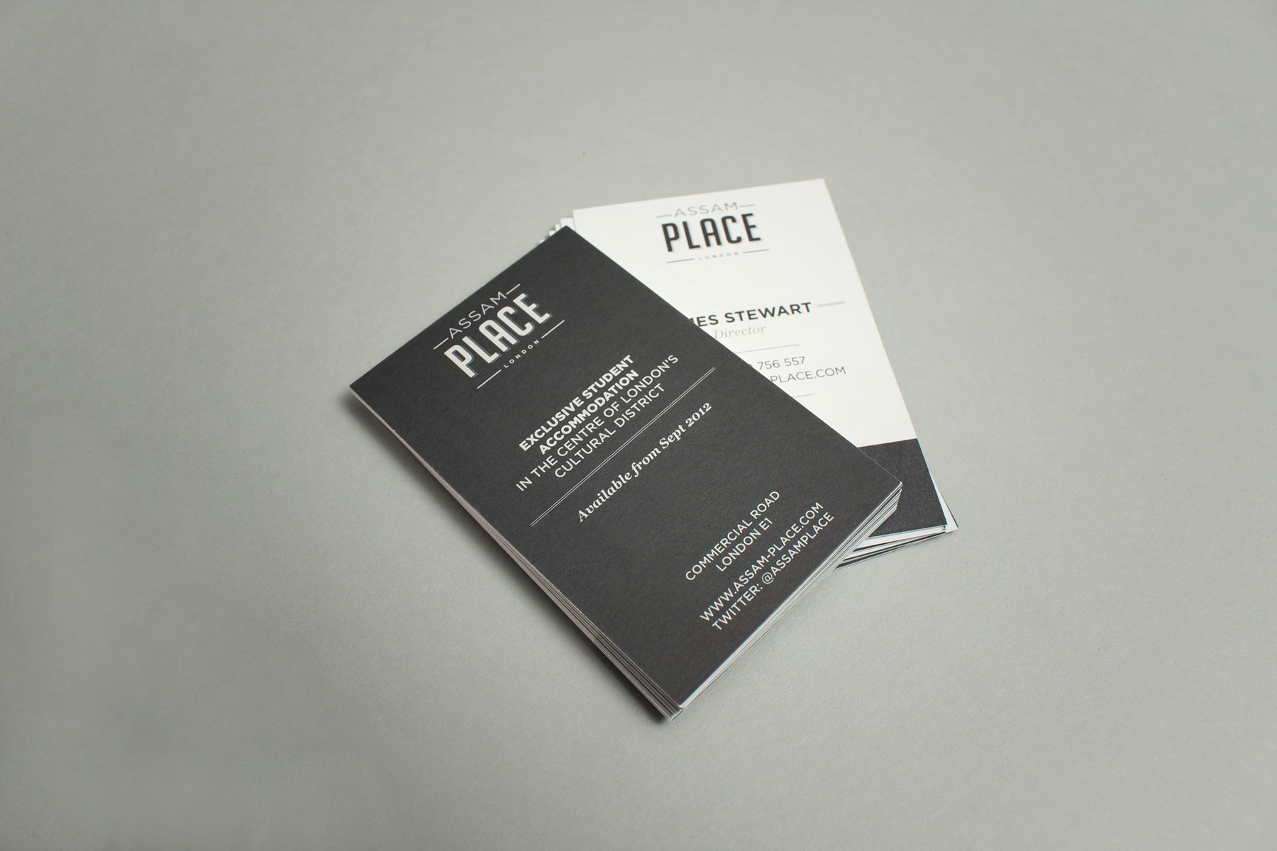 We chose uncoated stock for the correspondence stationery to create a premium feel.