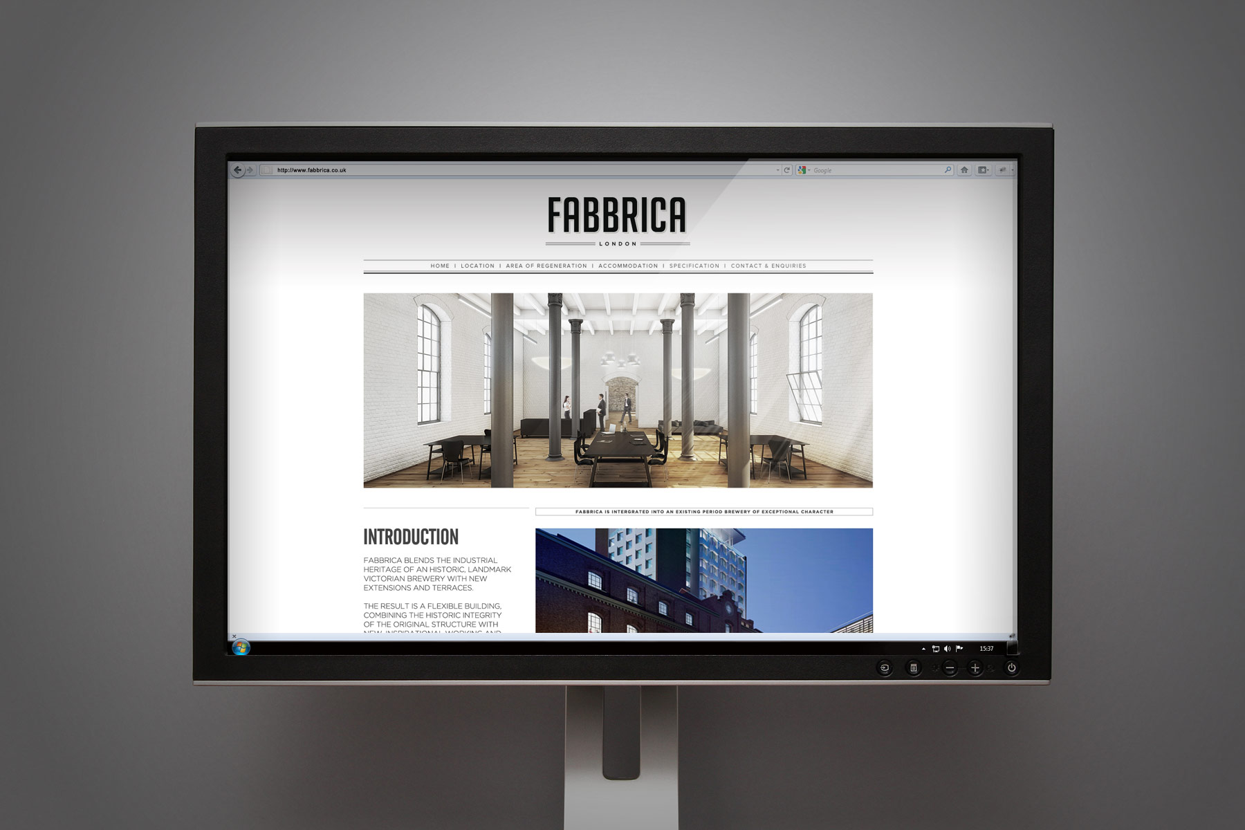 The Fabricca brand has its own dedicated website and brochure designed to sell the key attributes of the commercial development. The site is also built on the Wordpress CMS system.