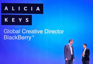 Alicia keys - Creative Director of Blackberry