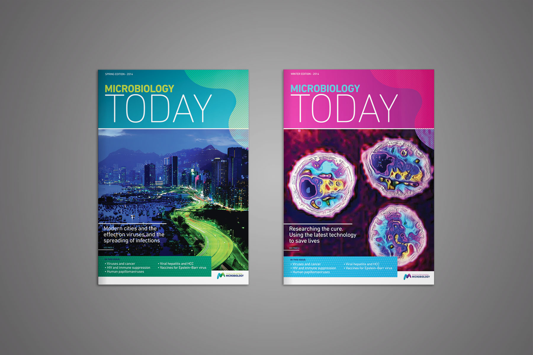 A redesign of Microbiology today - an industry circulated magazine.