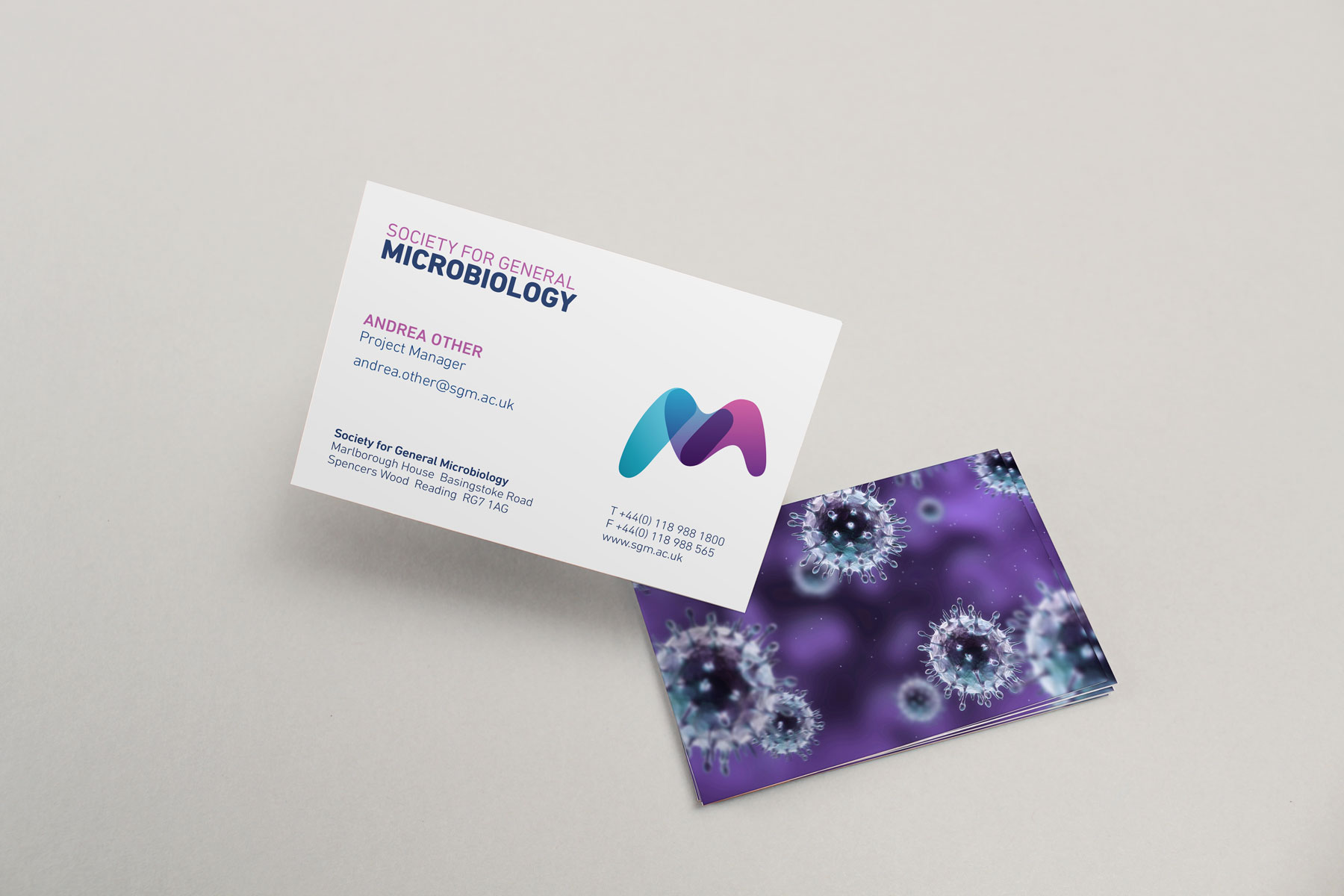 The business card demonstrates how the brand can be distilled into a more corporate environment.