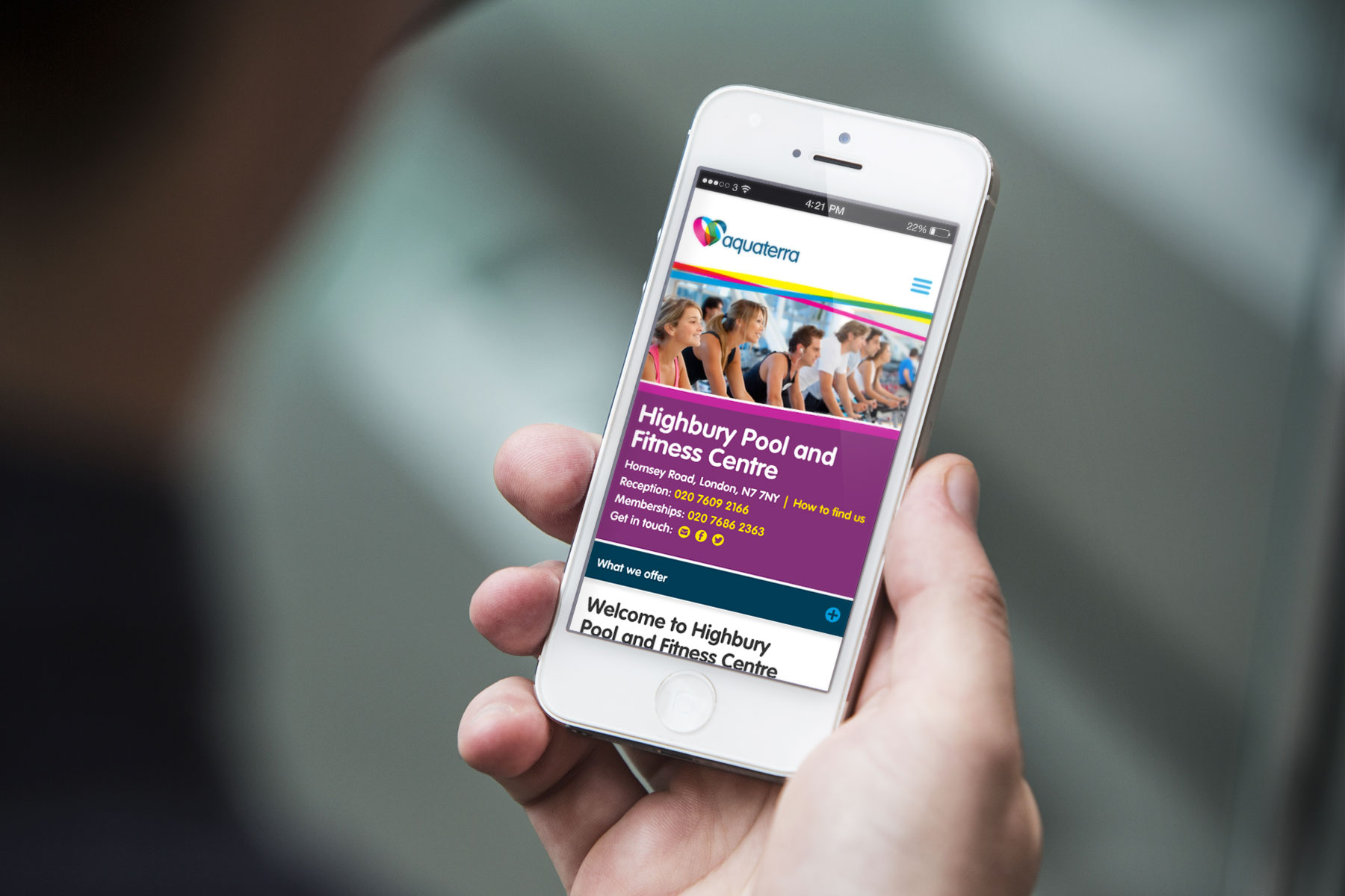 We adapted the responsive design right down to a single column layout so that mobile users could easily navigate the site without compromising on legibility of content