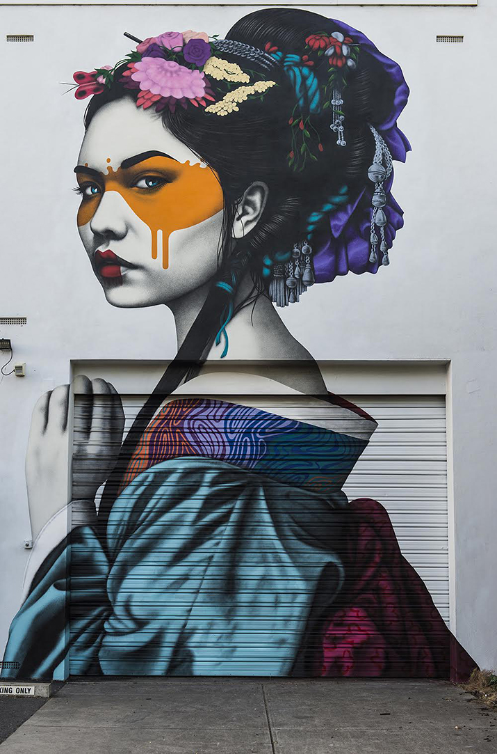 """Shinka"" by Fin DAC in Adelaide, Australia - Contemporary street art"