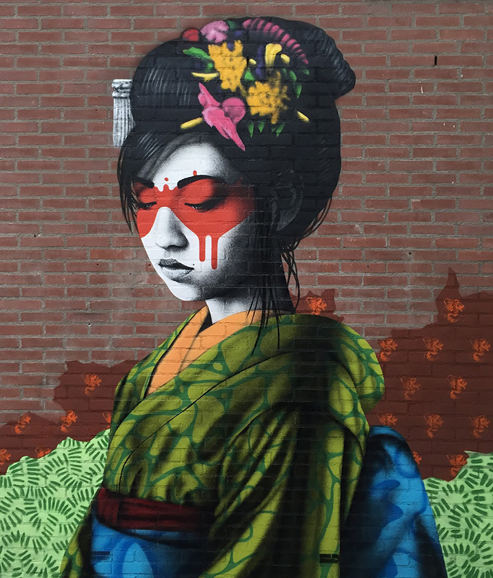 """Oralali"", a new mural by Fin DAC in Breda, Netherlands - Source: Street Art News"