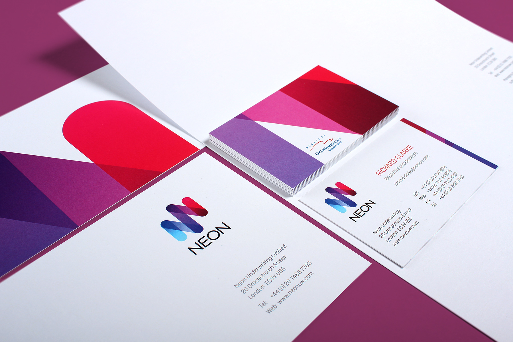 The print and stationery look and feel is simple, bright and bold. We utilised a contemporary rounded germanic font to add to the overall feel.