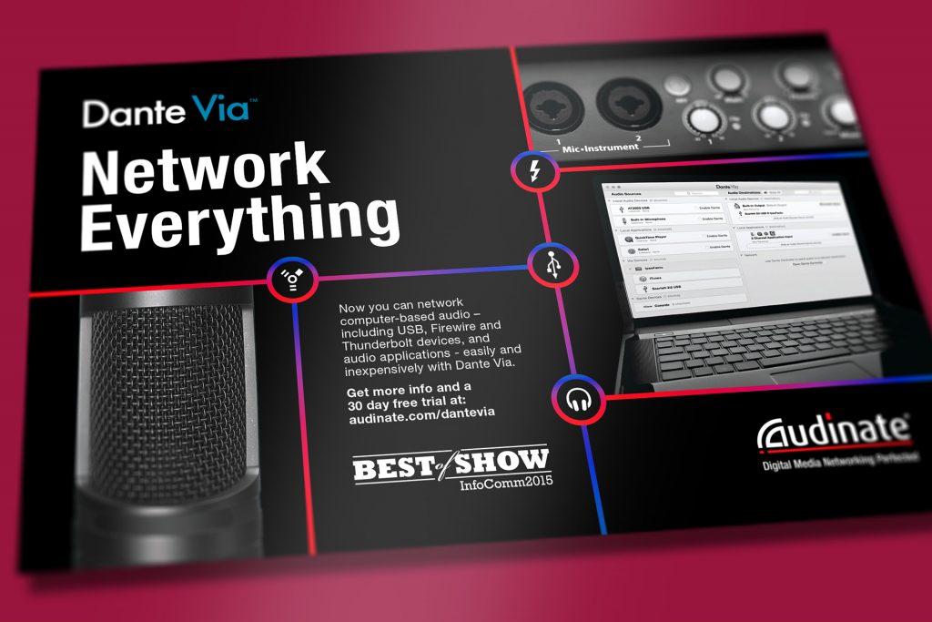 Audinate audio advertising concept