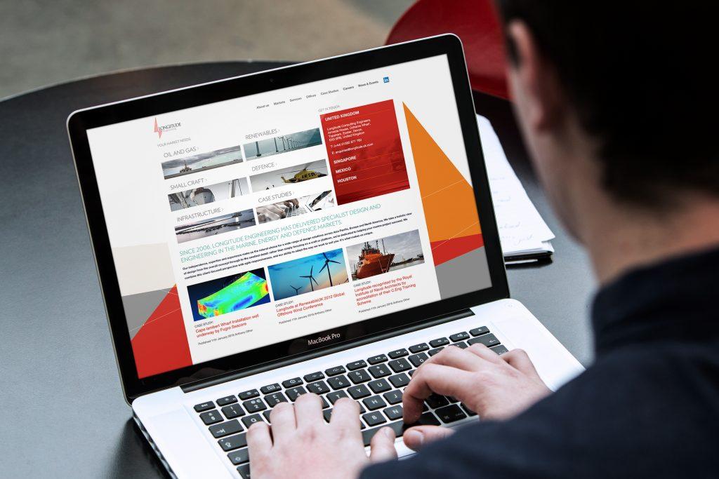 Website design for Longitude Engineering