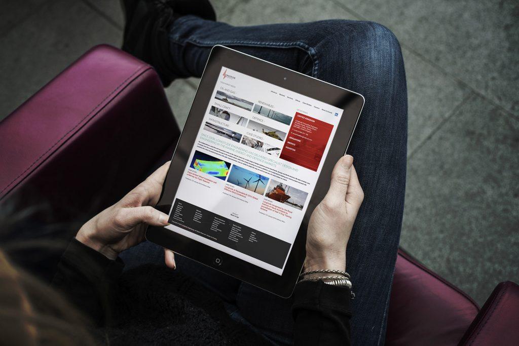Design for tablets navigating Longitude Engineering