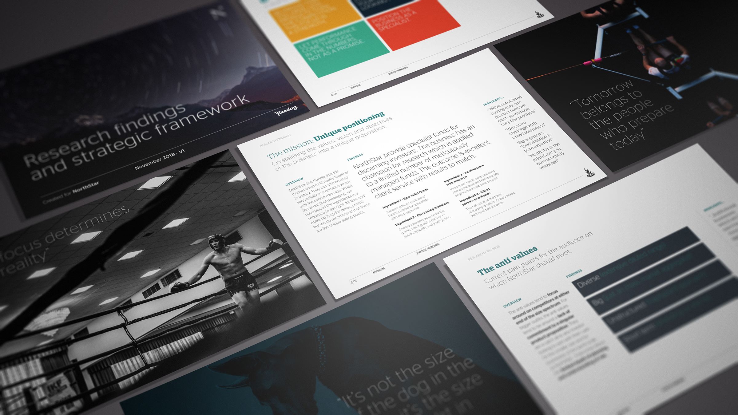 The results of our research efforts were distilled into a thirty page strategic framework that encompassed all the positioning and messaging requirements.