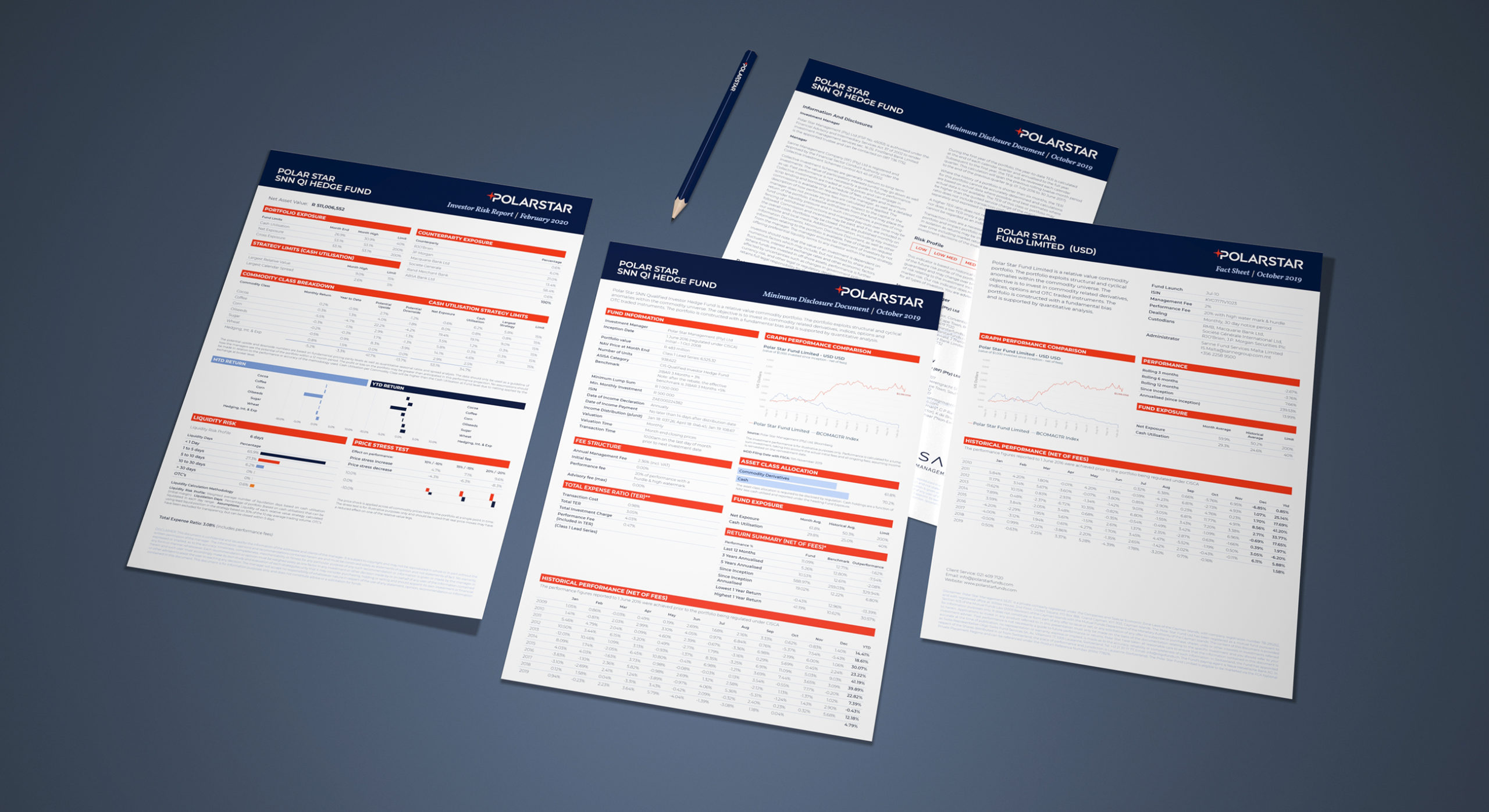 We provided extensive support in the design of corporate and fund based client reporting. A number of Microsoft templates were provided as workable publishing assets.